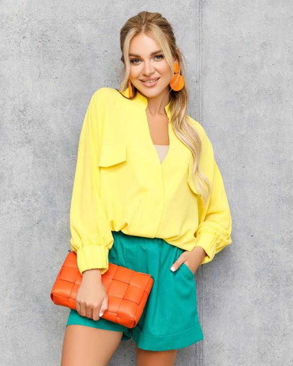Блузы ISSA PLUS 12709  S желтый