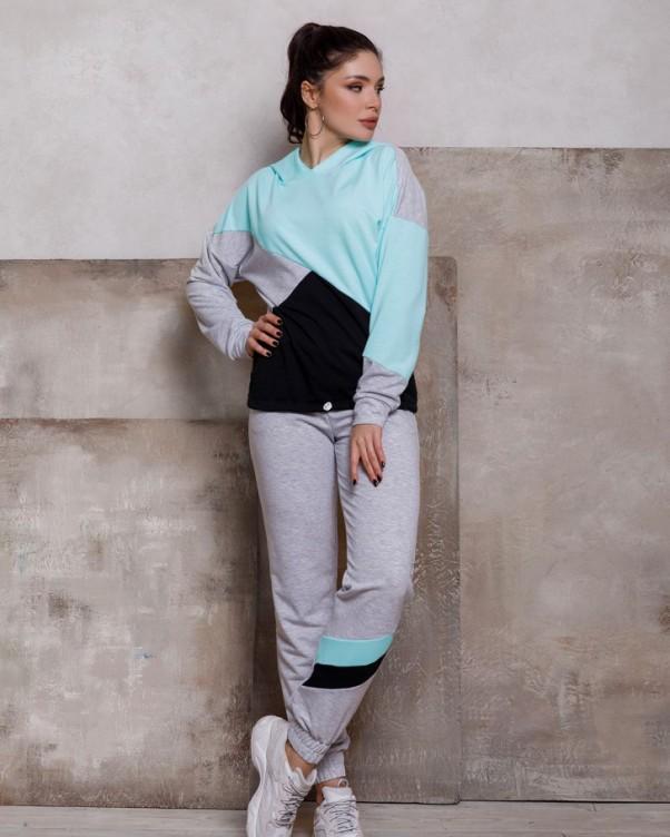 Спортивные костюмы ISSA PLUS SA-112  L серый/голубой