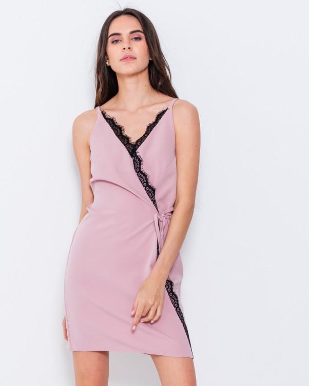 Платья ISSA PLUS 10733  L розовый