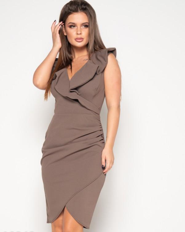 Платья ISSA PLUS 10348  M светло-коричневый