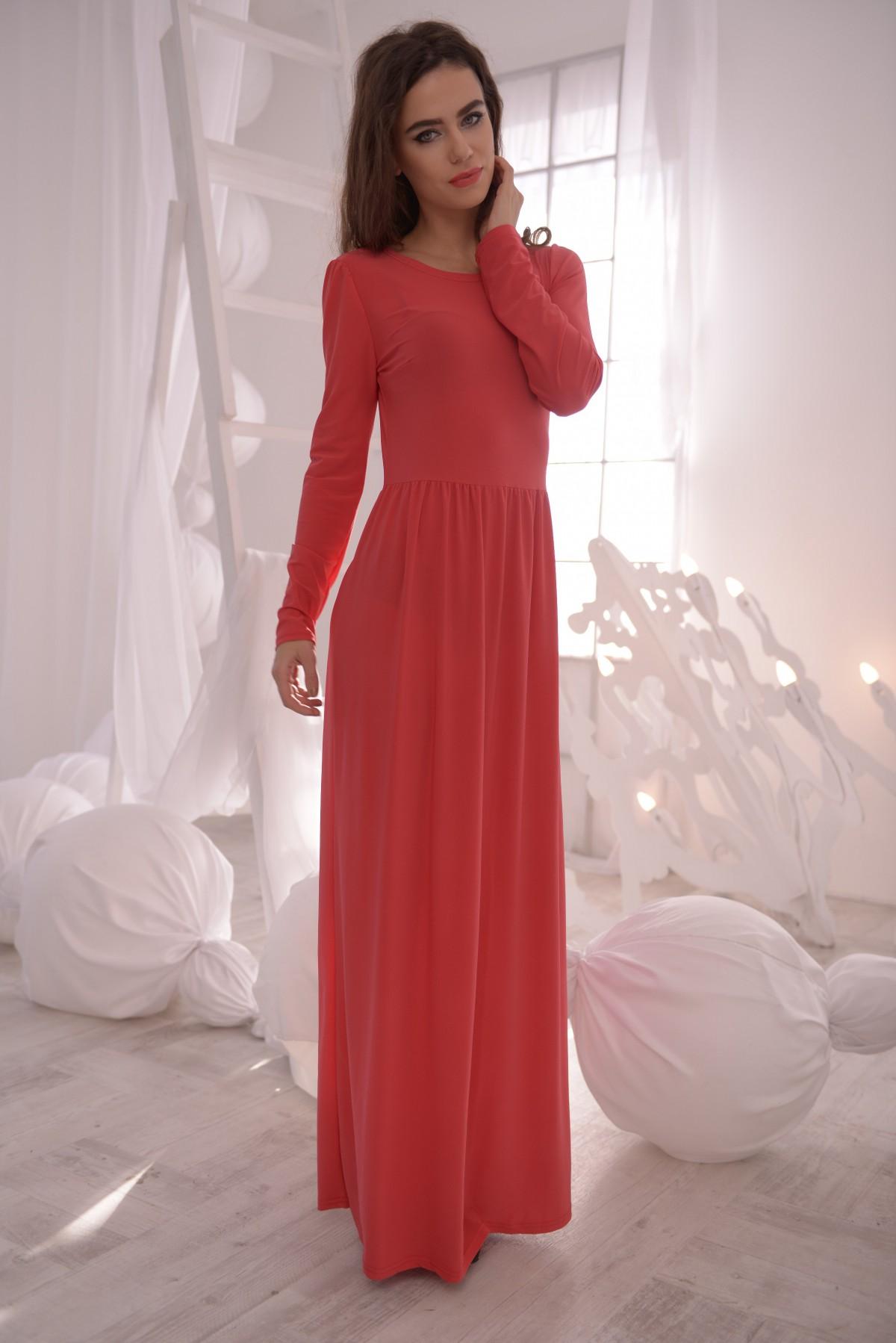 643bf065923f9d1 Платье сарафан в пол с длинным рукавом - Модадром