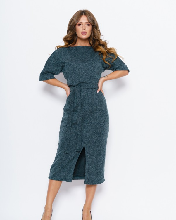Платья ISSA PLUS 11055  S зеленый