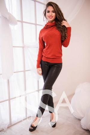Бордовый свитер женский доставка