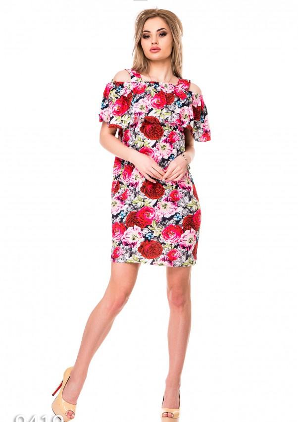 Платья ISSA PLUS 9419  L мультиколор от Issaplus