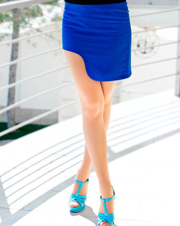 Юбки ISSA PLUS Y-03  M синий