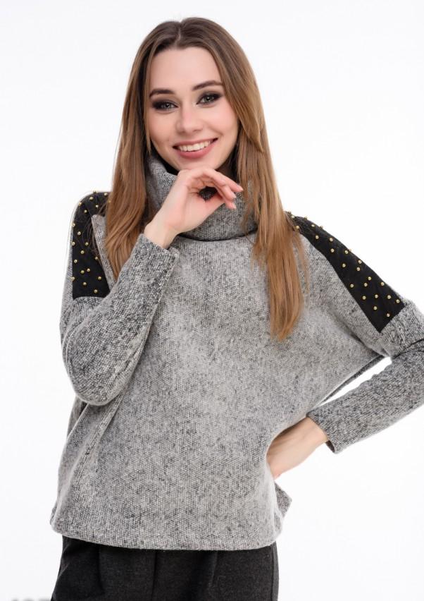 Свитера ISSA PLUS 4277  S серый